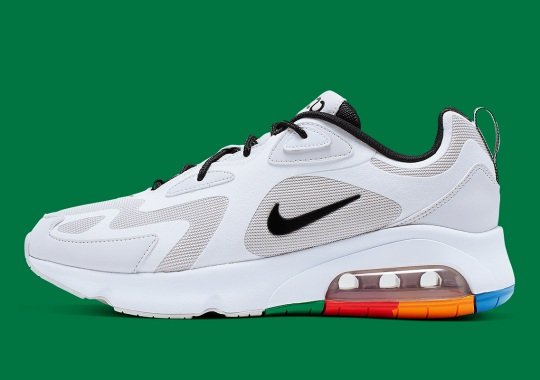 """The Nike Air Max 200 """"Vast Grey"""" Features Rainbow-Blocked Soles"""