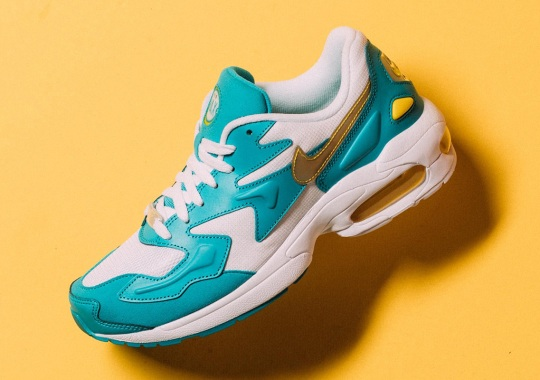 The Nike Air Max 2 Light Dresses Up In Teal And Yellow Accents
