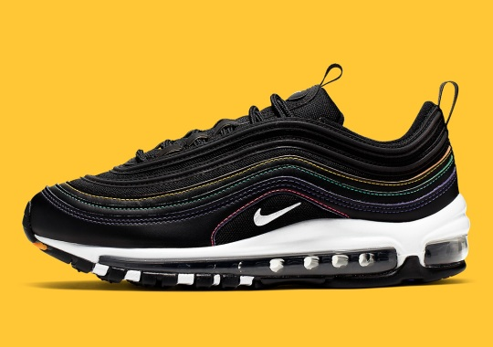 save off e5d6e ae6dd This Nike Air Max 97 Features Rainbow Contrast Stitching
