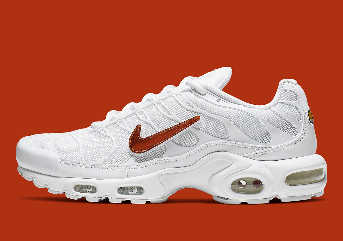 new concept 5e051 304d5 Nike Air Max Plus Removable Swoosh CJ9696-100 Release Info ...