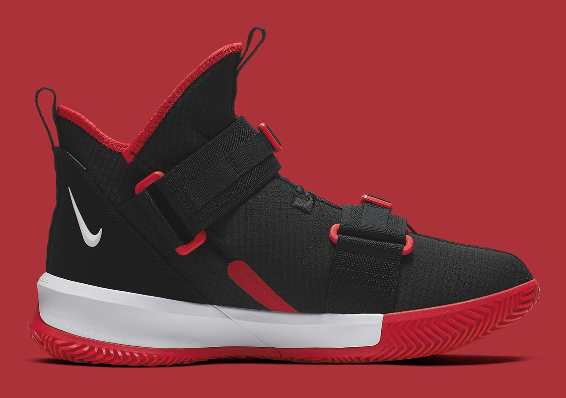 new arrival 1e6d2 3701a Nike LeBron Soldier 13 Black Red AR4228-003 Release Info ...