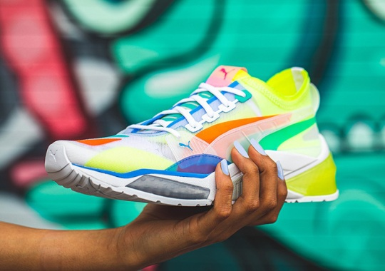 The PUMA LQD Cell Optic Boasts Translucent Uppers And Colorful Overlays