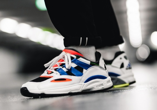 The adidas LXCON 94 Returns With Orange, Blue, And Hi-Res Yellow Accents