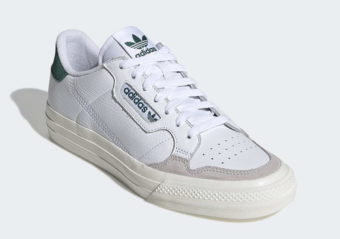 adidas Continental Vulc White Green EF3534 Release Info ...