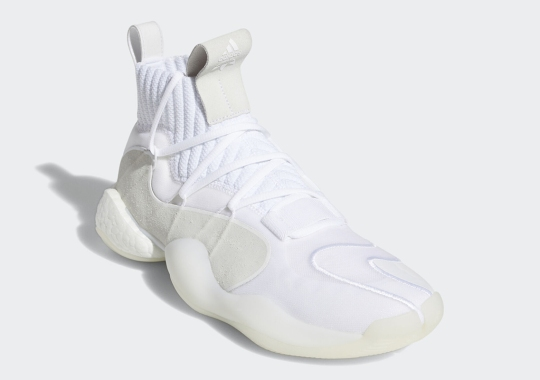 "The Famed ""Triple White"" Look Lands On The adidas Crazy BYW X"