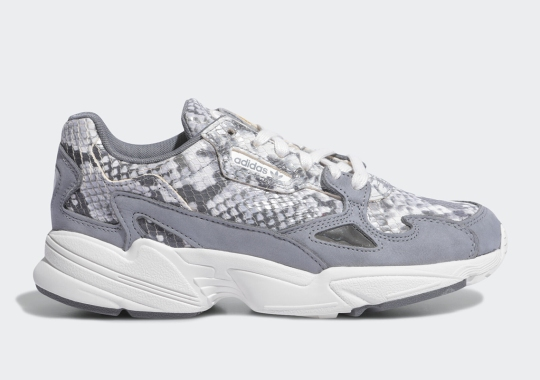 This Lux adidas Falcon In Grey Python Drops In August