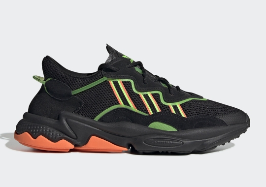The adidas Ozweego Gets Bold Orange And Green Accents