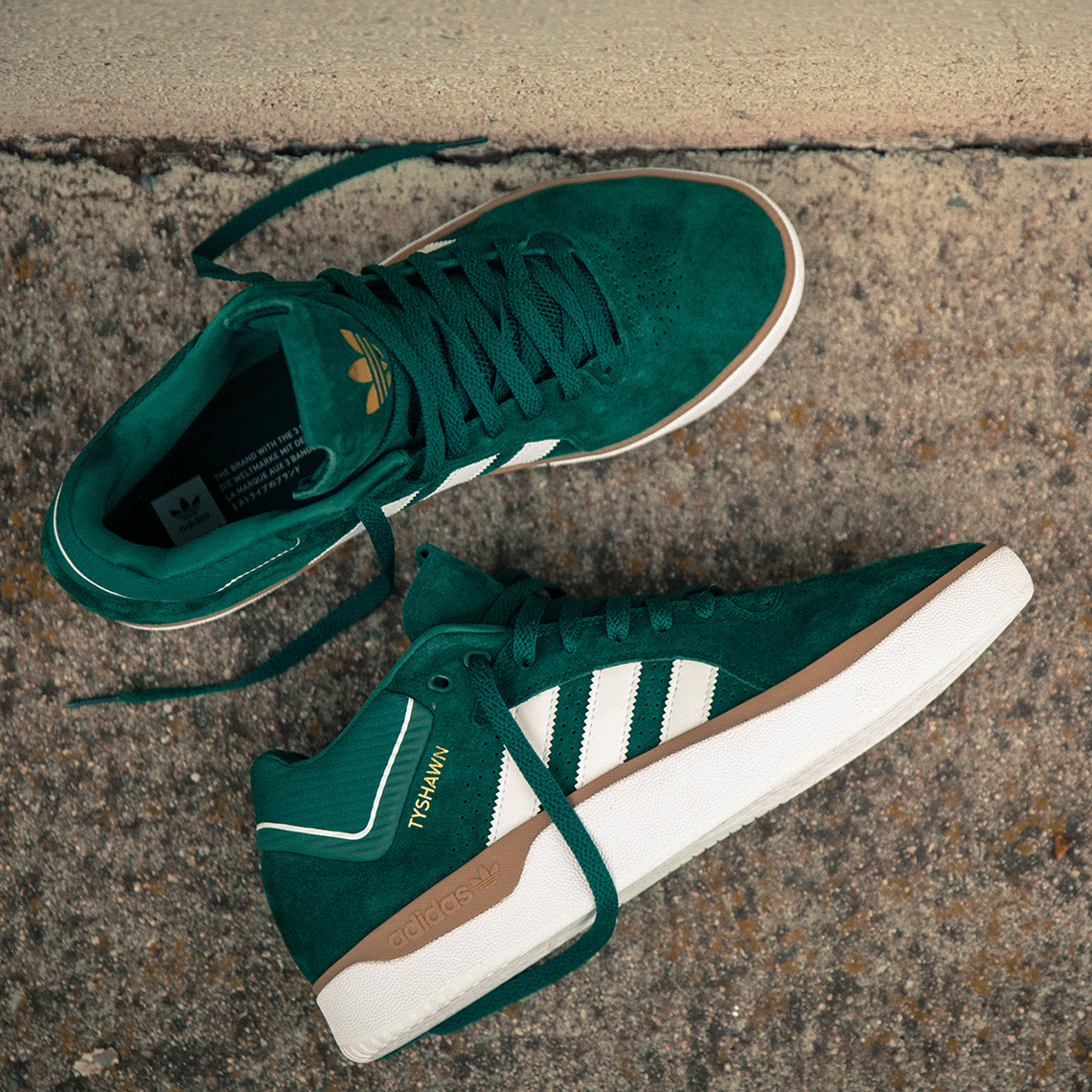 The adidas Skateboarding Tyshawn Appears In Green And White