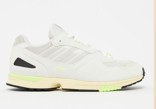 The adidas ZX4000 Returns In Off White And Hot Lime