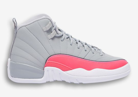 "The Air Jordan 12 ""Racer Pink"" Releases On July 31st Exclusively For Girls"