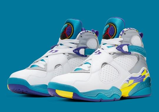 """Official Images Of The Women's Air Jordan 8 """"Aqua"""""""