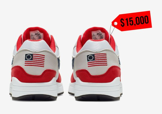 "Controversial Nike Air Max 1 ""Betsy Ross"" Fetches $15,000 Bid On eBay"