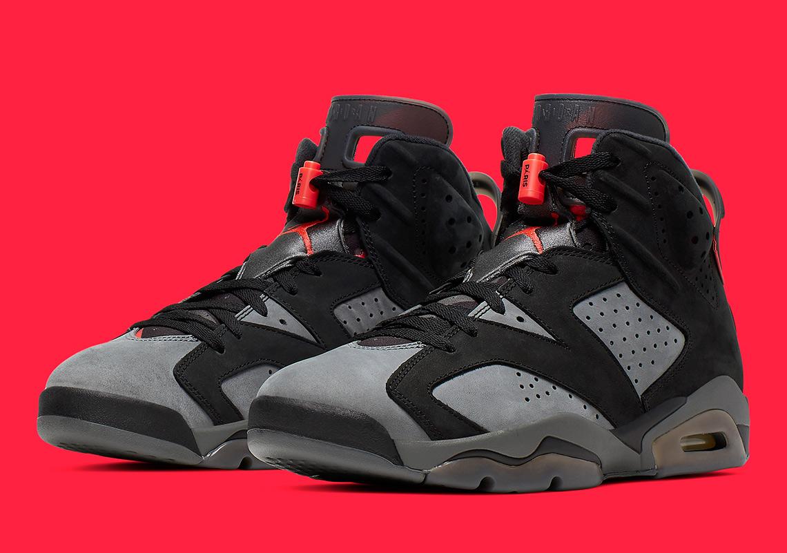 reputable site 5b126 c03ee Jordan 6 PSG Iron Grey Infrared CK1229-001 | SneakerNews.com