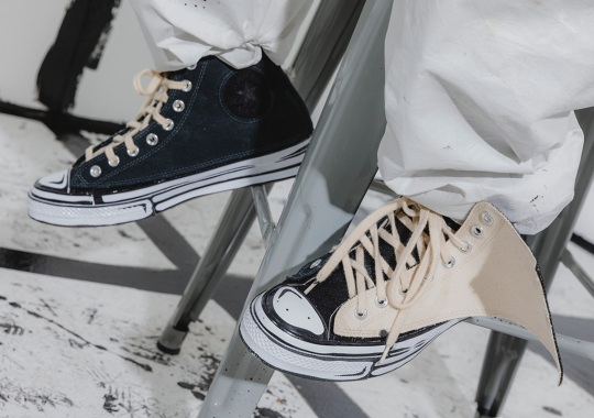 Joshua Vides Adds Removable Velcro Panels To Two Converse Chuck 70s