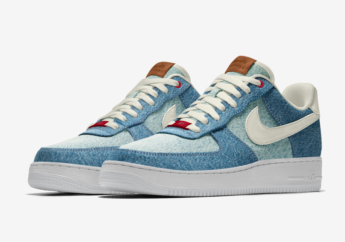 Levi's Nike Air Force 1 Low 'By You' Denim For Sale
