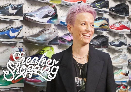 USWNT World Cup Hero Megan Rapinoe Goes Sneaker Shopping At Stadium Goods