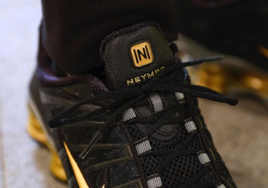 Neymar Jr. Has A Black And Gold Nike Shox TL Collaboration