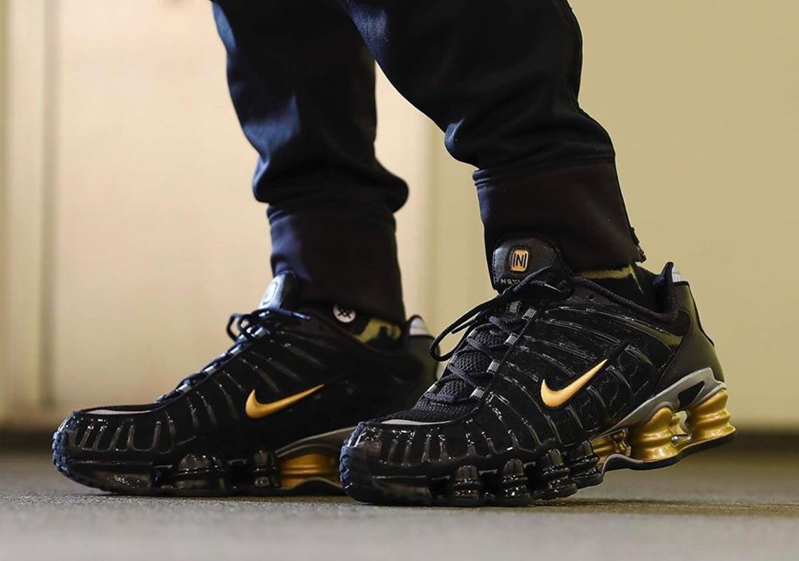 outlet amazon best deals on Neymar Jr Nike Shox TL Black Gold BV1388-001 Release Date ...