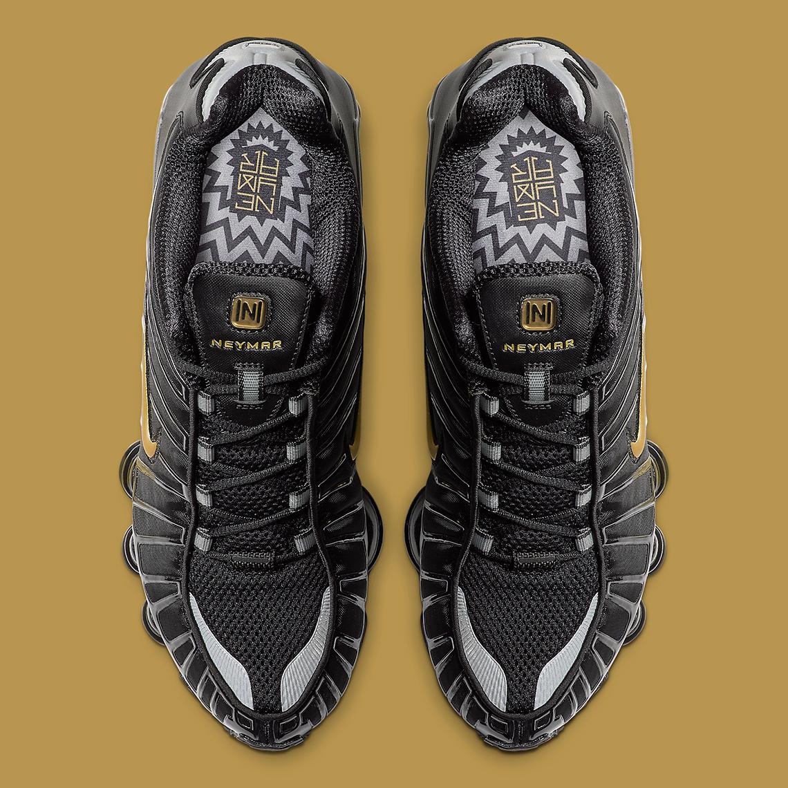 Tuned In Tokyo >> Neymar Jr Nike Shox TL Black Gold BV1388-001 Release Date ...