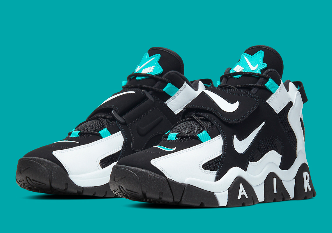 Nike Air Barrage Black White Aqua AT7847 001 Release Date