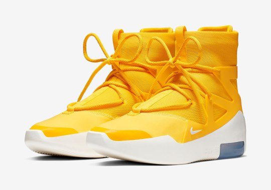 "Official Images Of The Nike Air Fear Of God 1 ""Amarillo"""
