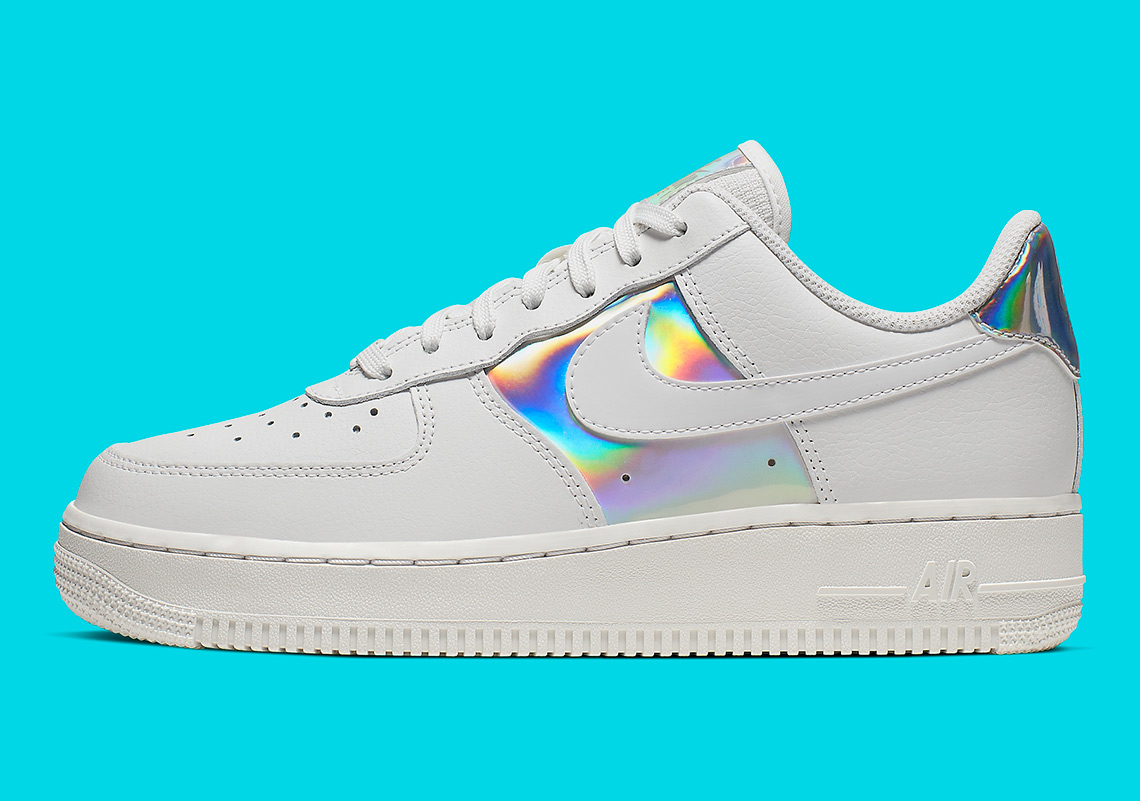 sold worldwide high fashion pretty nice Nike Air Force 1 Low Iridescent Womens CJ9704-100 ...