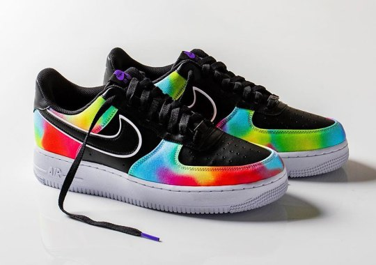 "Nike Air Force 1 ""Tie Dye"" Releases With Black Uppers"