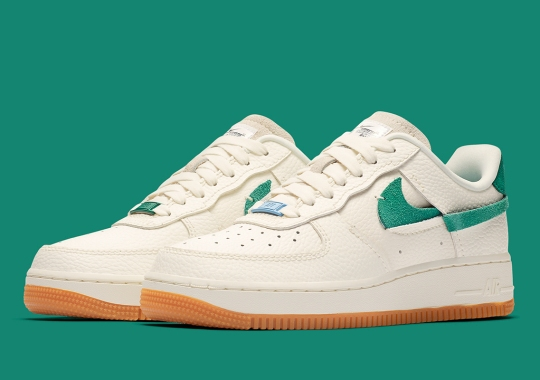 Nike's Air Force 1 Vandalized Arrives In A Crisp Combo Of Sail, Green, And Blue
