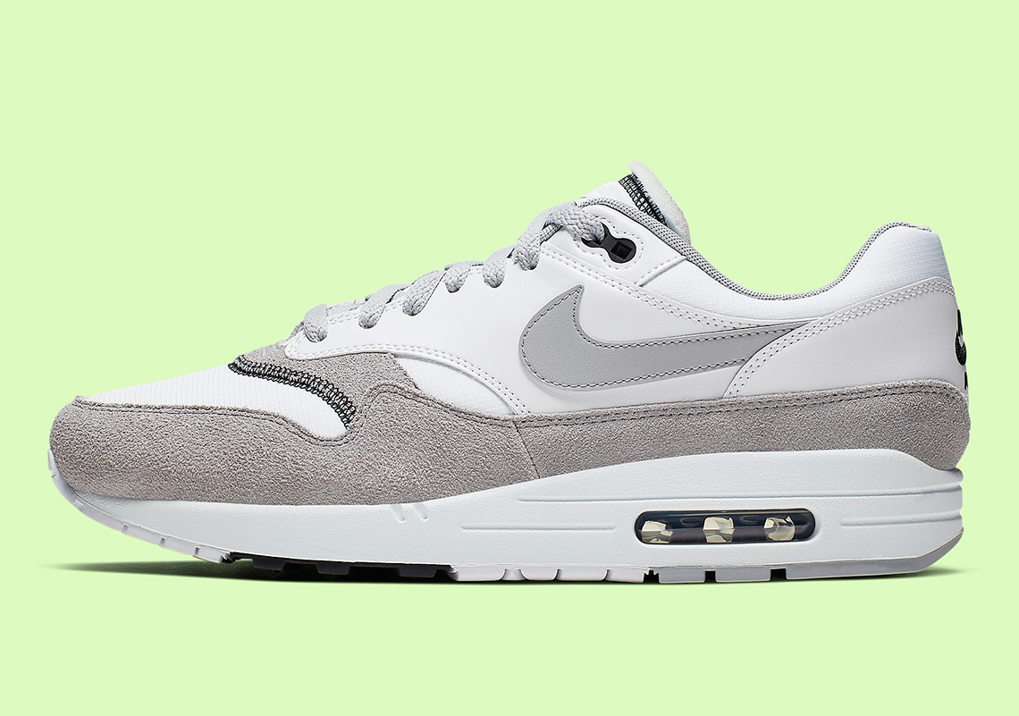 undefeated x various styles wholesale price Nike Air Max 1 AH8145-113 White Black Wolf Grey ...
