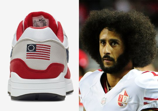 "Colin Kaepernick's Intervention Lead Nike To Scrap Air Max 1 ""Betsy Ross"" Release"