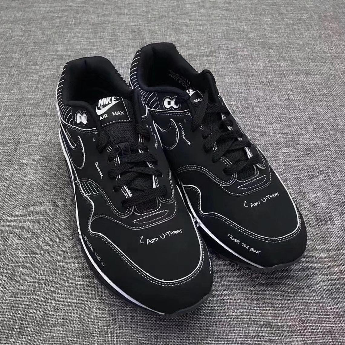 Nike Air Max 1 Tinker Schematic Black CJ4286 001 Release