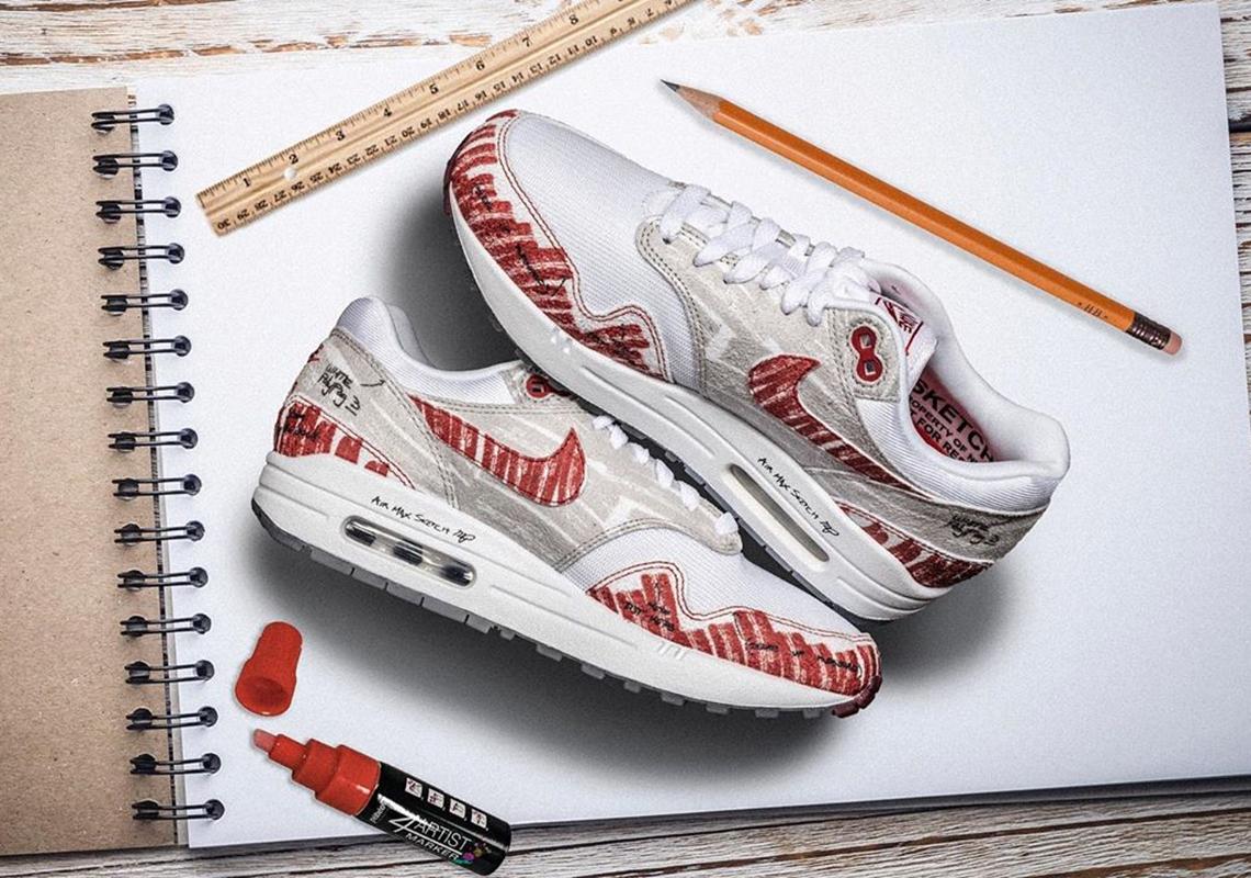 Nike Air Max 1 Sketch To Shelf CJ4286 101 Store List