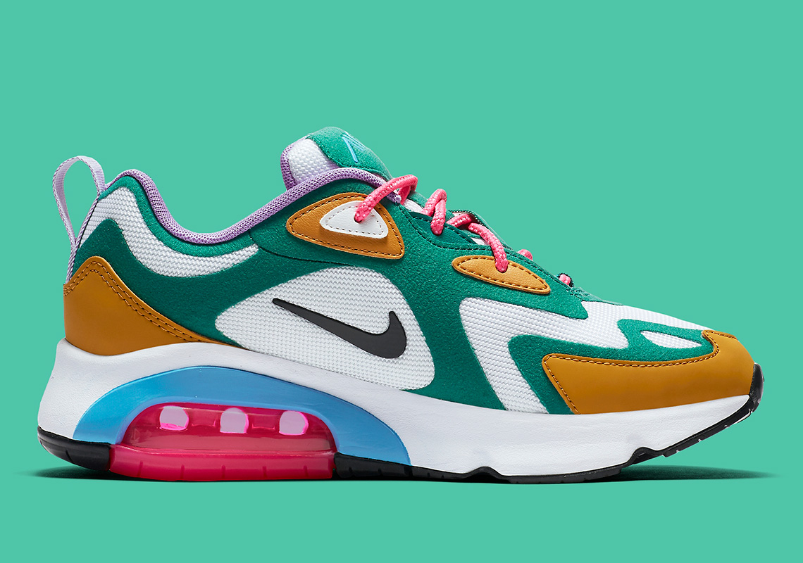 "Nike Air Max 200 ""Mystic Green"" Set To Drop Next Week: Official Images"