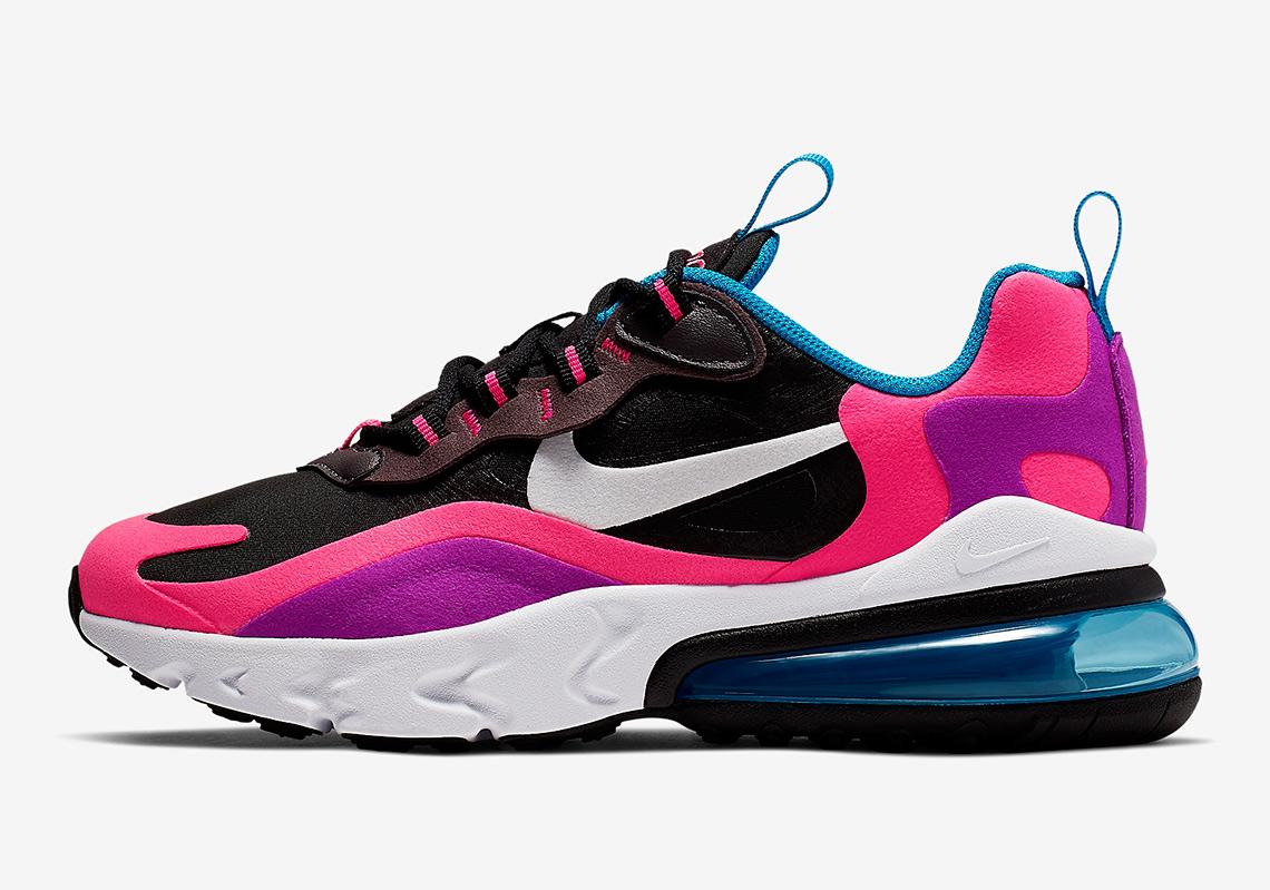 Nike Air Max 270 React Hyper Pink Vivid Purple Bq0101 001
