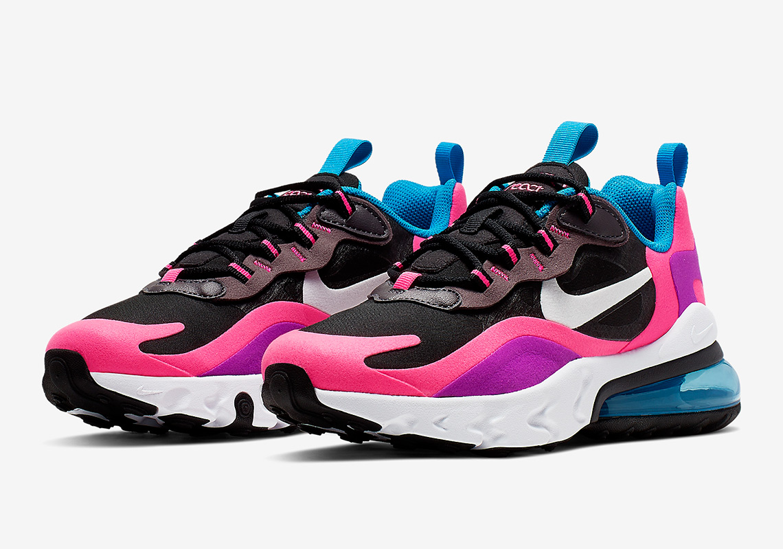 Nike Air Max 270 React Hyper Pink Vivid Purple Bq0101 001