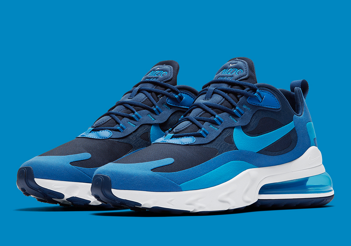 the latest d3069 be2c2 Nike Air Max 270 React Blue Void AO4971-400 Release Date ...