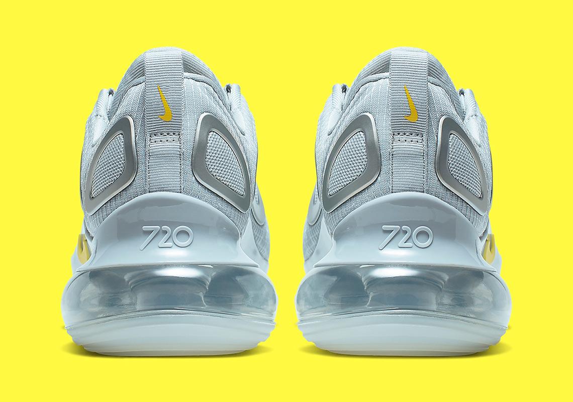Nike Air Max 720 Womens Pure Platinum Dynamic Yellow CN0141