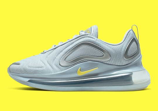 Nike's Air Max 720 Pairs Soothing Hues Of Platinum And Yellow