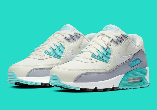 the best attitude 28c9d 03238 The Nike Air Max 90 For Women Grabs Tiffany Emerald Hues