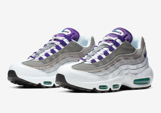 "Nike Brings Back The Original Air Max 95 ""Grape"" With Snakeskin Upgrades"