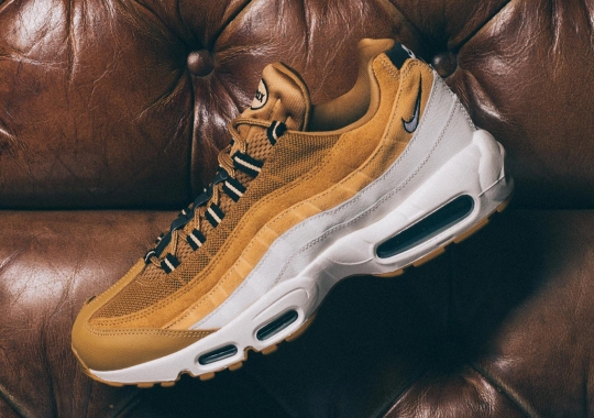 Golden Wheat Tones Appear On This Rugged Nike Air Max 95