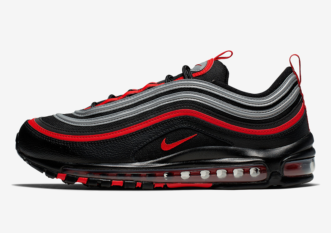 nike air max 97 nero university red nero