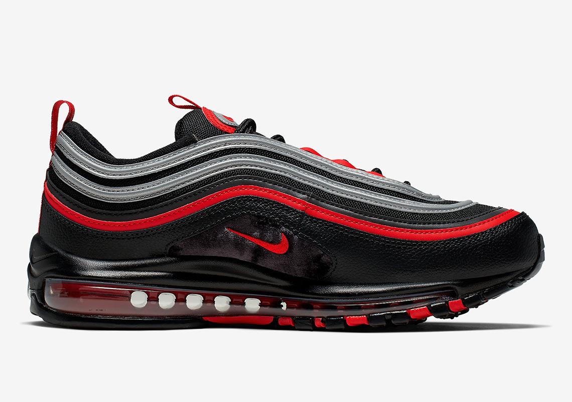Nike Air Max 97 Black Red Silver 921826 014 Sneakernews Com