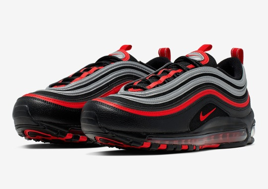 "Nike Adds Reflective Silver To An Air Max 97 ""Bred"""