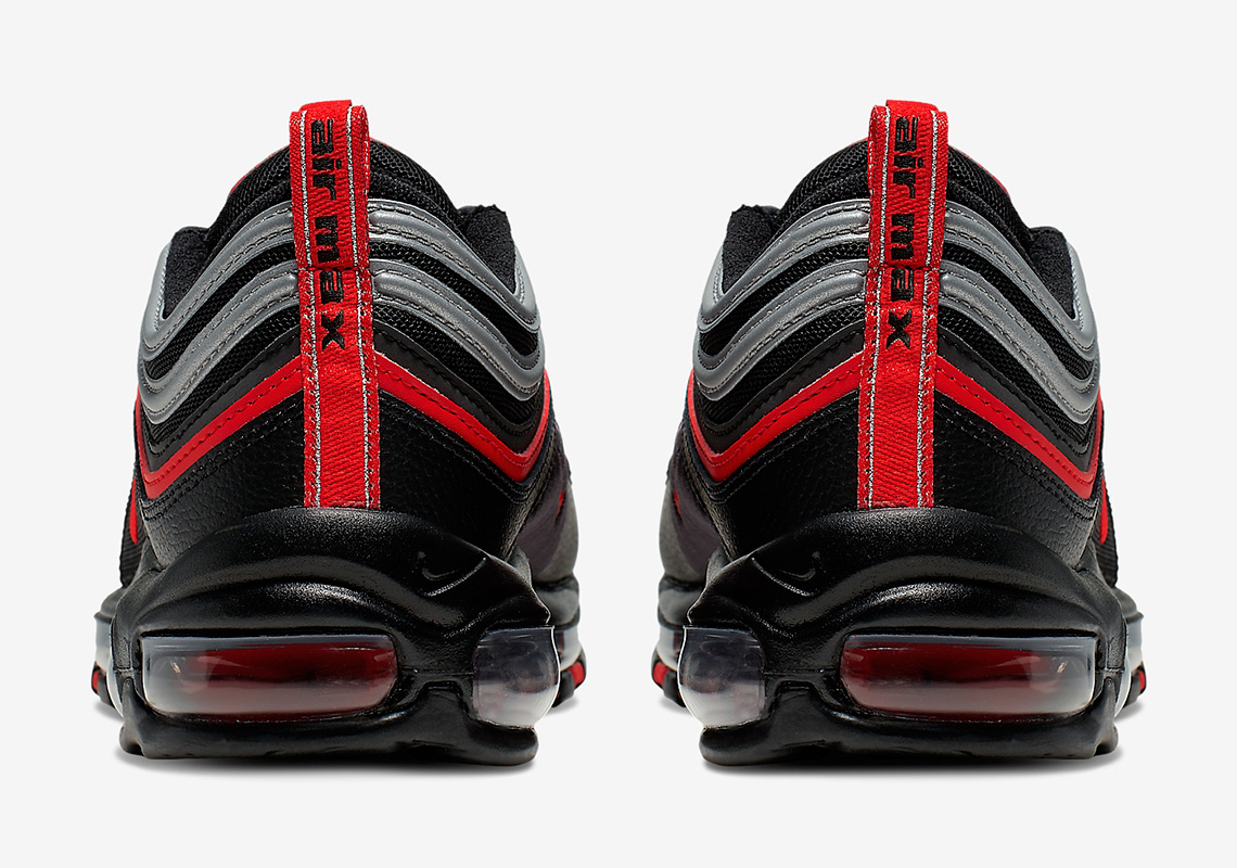 Nike Air Max 97 Black Red Silver 921826 014 |