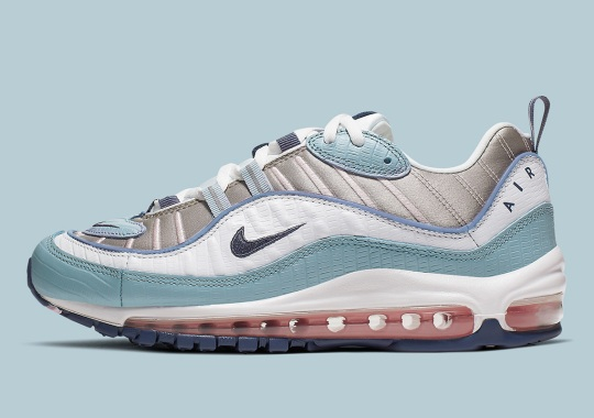 "More Snakeskin Applications Appear On The Nike Air Max 98 ""Ocean Blue"""