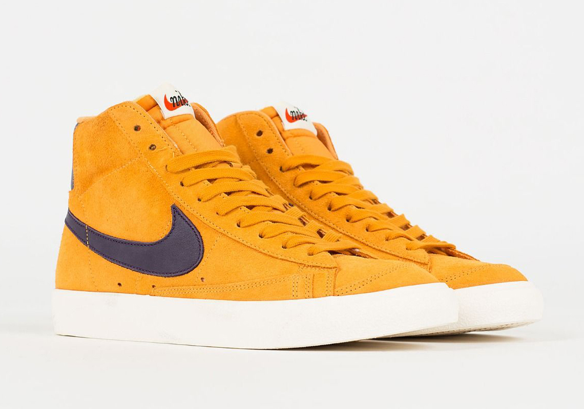 Nike Blazer Mid Vintage Yellow Maroon