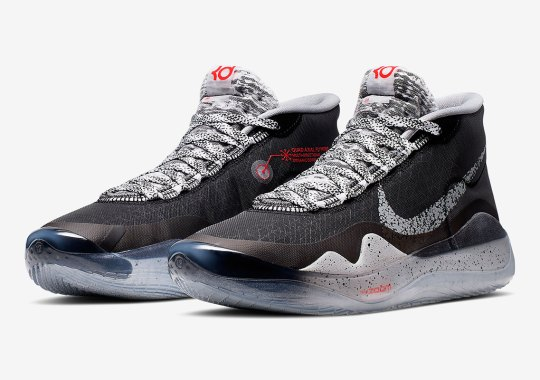 "The Nike KD 12 ""Cement Grey"" Matches The Brooklyn Nets Uniforms"