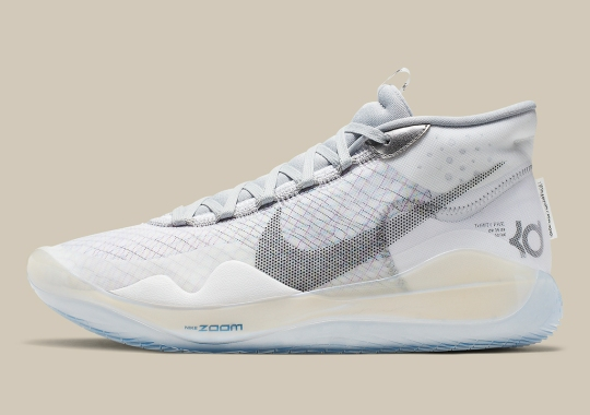 "The Nike KD 12 NRG Appears In A Crisp ""Wolf Grey"""