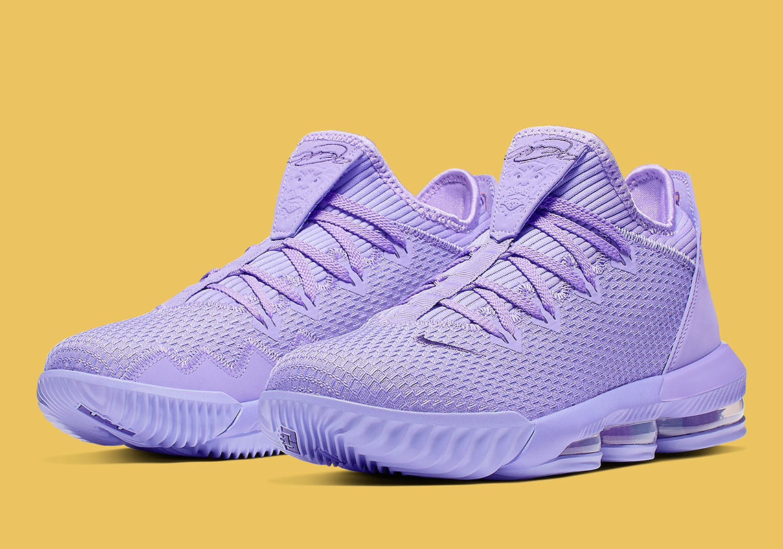 pretty nice 03d7c ea8cb Nike LeBron 16 Low Purple Violet CI2668-500 Release Info ...
